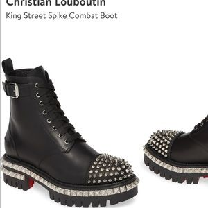 Christian Louboutin King Street Spike Combat Boots